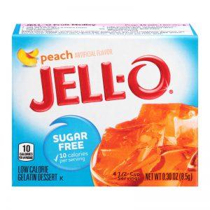 Ζελέ Ροδάκινο Επιδόρπιο Χωρίς Ζάχαρη Jello Peach Sugar Free Gelatin Dessert 8.5g