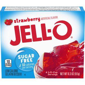 Ζελέ Φράουλα Επιδόρπιο Χωρίς Ζάχαρη Jello Strawberry Sugar Free Gelatin Dessert 8.5g