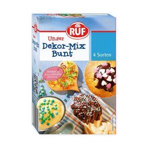 Διακοσμητικά Ζαχαροπλαστικής 4 Είδη Ruf Decor Mix Bunt 160g