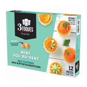 Καναπεδάκια Βάση Σφολιάτας Βολοβάν 3 Toques Mini Vol Au Vent 12 Pieces