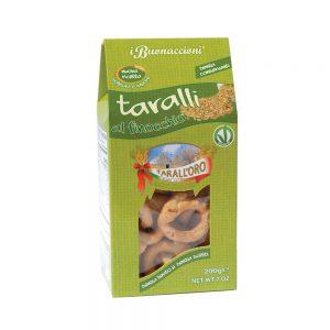 Σνακ με Φινόκιο Vegan Tarall Oro Taralli with Fennel 200g