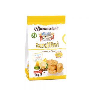Μίνι Σνακ με Λεμόνι και Πιπέρι Vegan Tarall Oro Tarallini Lemon and Pepper 100g