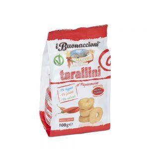 Μίνι Σνακ με Καυτερή Πιπεριά Vegan Tarall Oro Tarallini with Chilli Pepper 100g