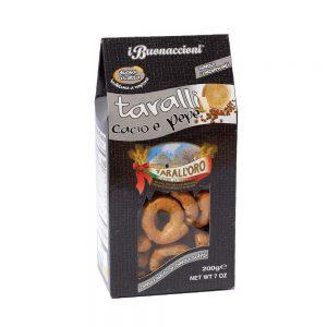 Σνακ με Τυρί και Πιπέρι Tarall Oro Taralli with Cheese and Pepper 200g