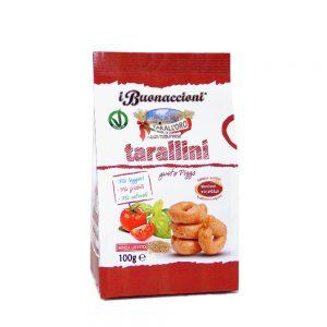 Μίνι Σνακ με Γεύση Πίτσα Vegan Tarall Oro Tarallini Pizza Flavour 100g