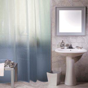 Κουρτίνα Μπάνιου Διάφανη Με Ανάγλυφα Σχέδια Πλαστική Shower Curtain Clear Frosty With Embossed 3D Patterns PEVA 180x180cm