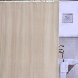 Κουρτίνα Μπάνιου Εκρού Πλαστική Shower Curtain Ecru PEVA 180x180cm