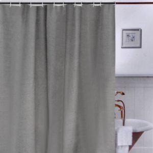 Κουρτίνα Μπάνιου Γκρι Πλαστική Shower Curtain Taupe PEVA 180x180cm