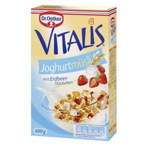 Δημητριακά Μούσλι με Γιαούρτι Dr. Oetker Vitalis Knusper Joghurt Muesli with Strawberry 600g