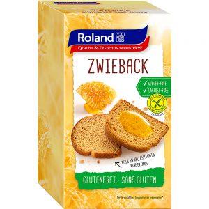 Φρυγανιές Διπλοφουρνιστές Roland Zwieback Gluten Free Lactose Free 165g