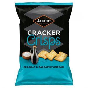 Κράκερ Jacobs Cracker Crisps Sea Salt Balsamic Vinegar 150g