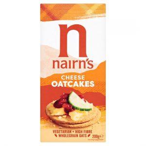Κράκερ Βρώμης με Τυρί Vegetarian Nairns Cheese Oatcakes 200g