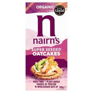 Κράκερ Βρώμης Βιολογικά Nairns Organic Super Seeded Oat Crackers 200g