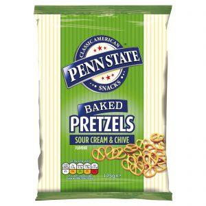 Αλμυρό Σνακ Πρέτζελ Penn State Baked Pretzels Sour Cream Chive 175g