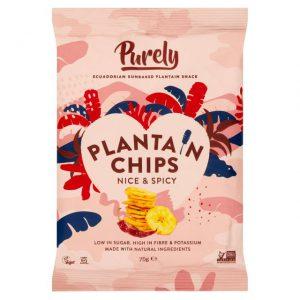 Τσιπς Μπανάνας Purely Plantain Chips Nice and Spicy 75g