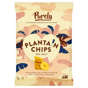 Τσιπς Μπανάνας Purely Plantain Chips Sea Salt 75g