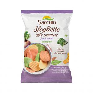 Τσιπς Λαχανικών Βιολογικά Χωρίς Γλουτένη Sarchio Sfogliette alle Vendure 55g