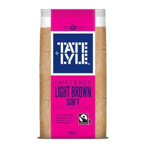 Ζάχαρη Καστανή Tate and Lyle Light Brown Soft Pure Cane Sugar 500ml