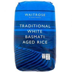 Ρύζι Αρωματικό Παραδοσιακό Λευκό Basmati Waitrose Traditional White Basmati Aged Rice 500g