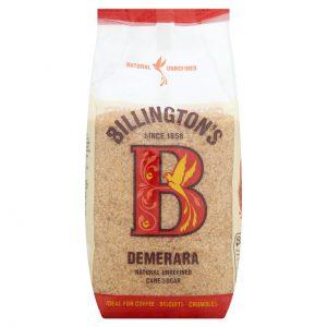 Ζάχαρη Καστανή Ακατέργαστη Από Ζαχαροκάλαμο Billingtons Demerara Natural Unrefined Cane Sugar 500g