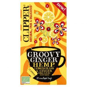 Αφέψημα Βοτάνων Clipper Organic Groovy Ginger Hemp Lemongrass Infusions 20 Tea Bags