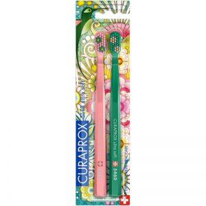 Οδοντόβουρτσα Εξαιρετικά Μαλακή Σε Συσκευασία Των 2τμχ Ροζ Και Πράσινη Curaprox CS 5460 Ultra Soft Duo Extra Soft 1x2pcs