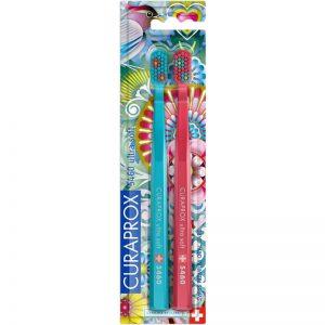 Οδοντόβουρτσα Εξαιρετικά Μαλακή Σε Συσκευασία Των 2τμχ Μπλε Και Φούξια Curaprox CS 5460 Ultra Soft Duo Extra Soft 1x2pcs