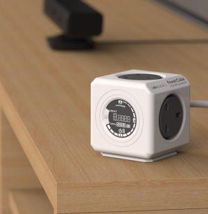 Έξυπνο Πολύπριζο 4 Θέσεων Γκρι Allocacoc Extended Monitor Powercube Grey 1,5m