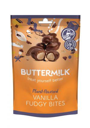 Σοκολατάκια Vegan Dairy Free Buttermilk Vanilla Fudgy Bites 100g