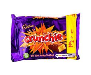 Σοκολάτα Γάλακτος Cadbury Crunchie 4×26.1g