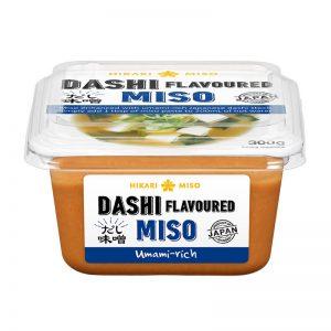 Πάστα Miso Αρωματισμένη Με Dashi Χωρίς Γλουτένη Hikari Miso Dashi Flavoured Miso Paste Gluten Free 300gr