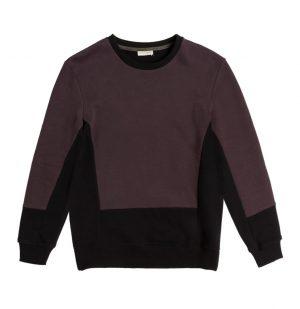 Μπλούζα Φούτερ The Color Block Crew Neck Sweatshirt Burgundy