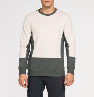 Μπλούζα Φούτερ The Project Garments Color Block Crew Neck Sweatshirt Cream