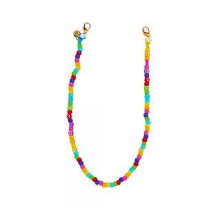 Αλυσίδα Μάσκας Αξεσουάρ The Mamacita Store Rainbow Smiley Handmade Mask Holder Necklace
