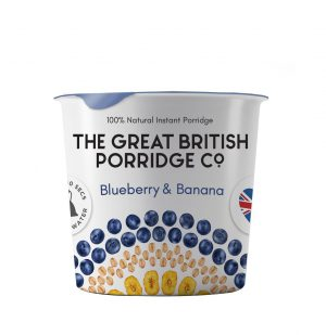 Νιφάδες Βρώμης Μύρτιλο Μπανάνα Vegan Gluten Free The Great British Porridge Blueberry Banana 60g