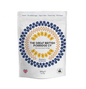 Νιφάδες Βρώμης Μύρτιλο Μπανάνα Vegan Gluten Free The Great British Porridge Blueberry Banana 385g