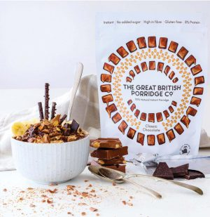 Νιφάδες Βρώμης Σοκολάτα Vegan Gluten Free The Great British Porridge Classic Chocolate 385g