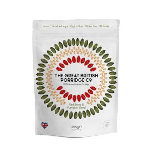 Νιφάδες Βρώμης Γκότζι Μπέρυ Σπόροι Κολοκύθας Vegan Gluten Free The Great British Porridge Red Berry Pumpkin Seed 385g