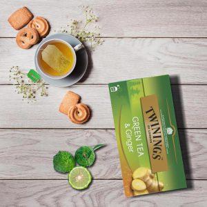 Τσάι Πράσινο Twinings Green Tea Ginger 25 Tea Bags