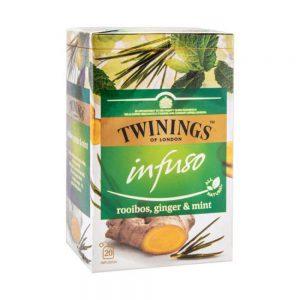 Αφέψημα Βοτάνων Twinings Infuso Rooibos Ginger and Mint 20 Tea Bags