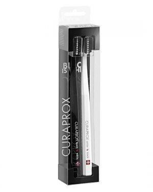 Οδοντόβουρτσα Εξαιρετικά  Μαλακή Μαύρη Και Λευκή Σε Συσκευασία Των 2τμχ Curaprox CS 5460 Black And White Duo Supersoft Black Is White 1x2pcs