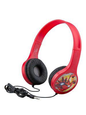 Avengers Παιδικά Ακουστικά Ενσύρματα Κόκκινα eKids Entry Headphones On Ear