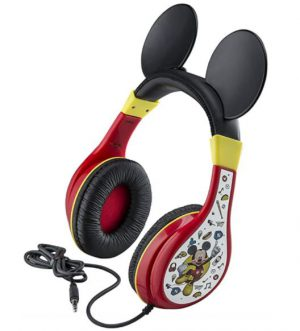 Mickey Mouse Παιδικά Ακουστικά Ενσύρματα Κόκκινο Μαύρο eKids Youth Headphones Over Ear