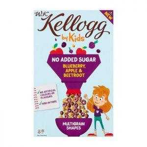 Παιδικά Δημητριακά Kellogg WK by Kids Blueberry Apple and Beetroot Multigrain Shapes 300g