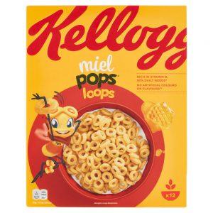 Παιδικά Δημητριακά Ολικής Άλεσης Kelloggs Miel Pops Loops 330g