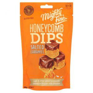 Γλυκό Σνακ Mighty Fine Honeycomb Dips Salted Caramel 90g