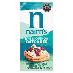 Κράκερ Βρώμης Ολικής Άλεσης Nairns Rye and Quinoa Oatcakes 200g