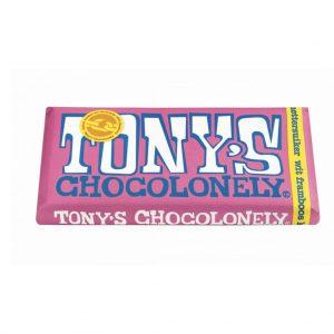 Λευκή Σοκολάτα Tony Chocolonely White Raspberry Popping Candy 180g