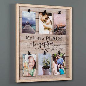Κάδρο Φωτογραφιών Ξύλινο My Happy Place Is Together With You 42×2.5×52 cm