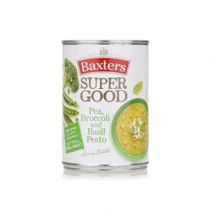Σούπα Έτοιμη Με Μπιζέλι Μπρόκολο Και Πέστο Βασιλικού Baxters Pea Broccoli And Basil Pesto Super Good Soup 400g